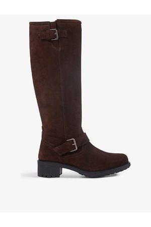 Bertie Trust suede knee-high boots