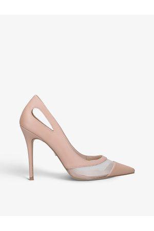 Carvela Luxx cutout faux-leather heeled courts