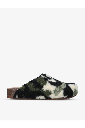 Steve Madden Vesa camo-print fleece mules