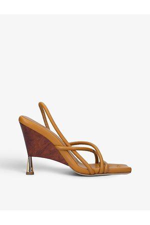 GIA X Rosie Huntington-Whiteley leather wedge sandals