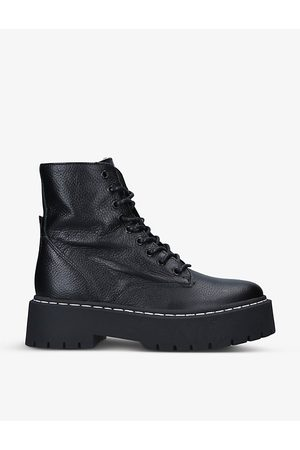 Steve Madden Women Ankle Boots - Skylar lace-up leather boots