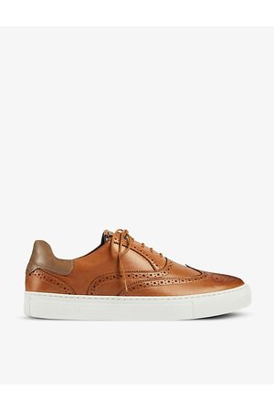 Ted Baker Dennton brogue-embellished leather trainers
