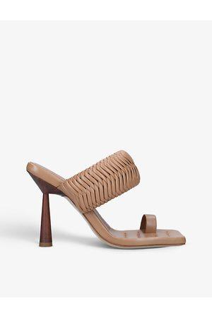 GIA X Rosie Huntington-Whiteley leather heeled mules