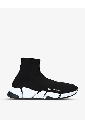 Balenciaga Men's Speed 2.0 stretch-knit mid-top trainers