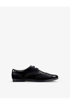 Clarks Scala Lace Youth patent-leather derby brogues 9-12 years