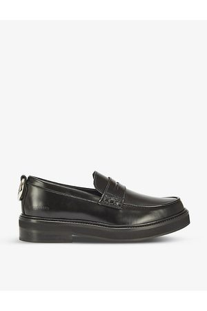 The Kooples Ring-embellished leather loafers