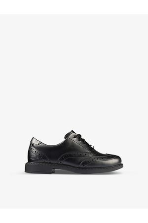 Clarks Scala Brogue Kid leather derby brogues 5-8 years