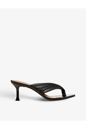 Dune Marbelle two-post leather mules