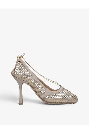 Bottega Veneta Women Heeled Pumps - Heeled leather and mesh courts