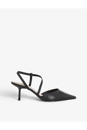 Dune Colombia pointed-toe woven courts