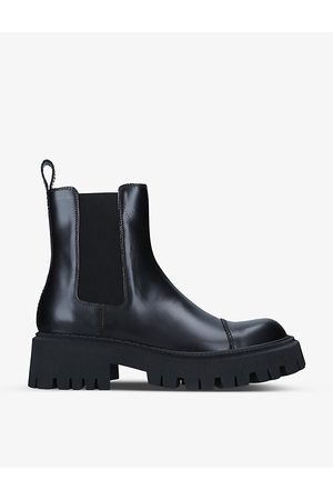 Balenciaga Tractor chunky leather ankle boots