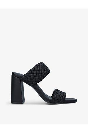 Steve Madden Women Heeled Sandals - Tangle double-strap woven heels
