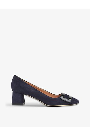LK Bennett Fabiola epaulette suede court shoes