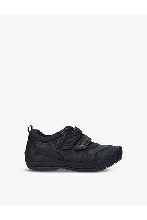Start Rite Strike logo-embossed leather shoes 5-7 years
