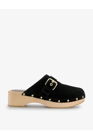 Dune Gizeles buckle-detail suede clogs