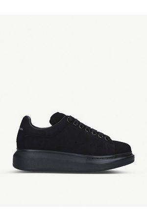Alexander McQueen Runway leather and suede platform trainers