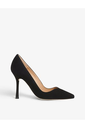 LK Bennett Faye Sweetheart pointed-toe suede courts