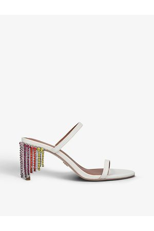 Kurt Geiger Petra Rainbow crystal-embellished leather high heeled sandals