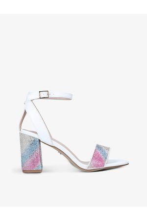 Carvela Kianni embellished faux-leather heeled sandals