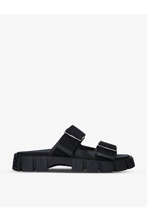 Fendi Force brand-print woven sandals
