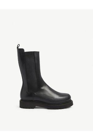 Pinko Natalie elasticated-panel leather boots