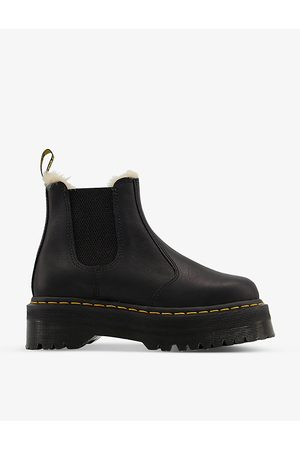 Dr. Martens 2976 leather and faux-fur Chelsea boots