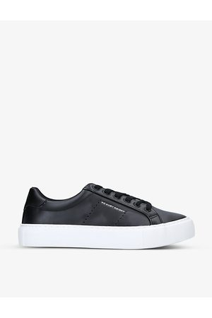 Kurt Geiger Wilson low-top faux-leather trainers