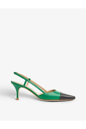 LK Bennett Hally colour-blocked leather courts