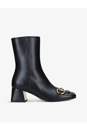 Gucci Horsebit Baby 55 leather ankle boots