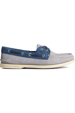 Sperry Top-Sider Men's Sperry Authentic Original 2-Eye PLUSHWAVE Checkmate Boat Shoe GreyMulti, Size 7M