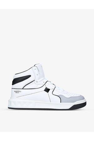 VALENTINO GARAVANI Men Sneakers - One Stud studded leather mid-top trainers