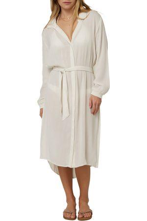 O'Neill Women's Dockside Long Sleeve Cover-Up Shirtdress