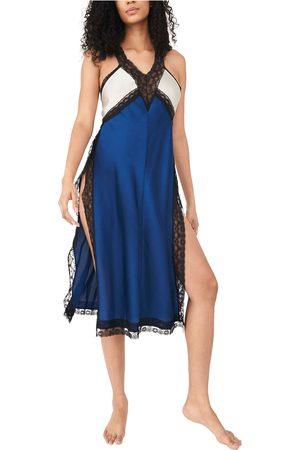 Free People Women's Tri Me Colorblock Satin Slip Dress