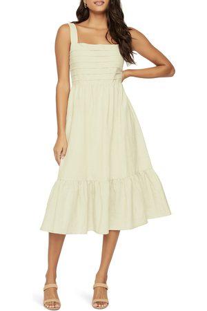 Lost + Wander Women's Natural State Linen & Cotton Midi Dress