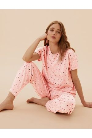 Marks & Spencer Pure Cotton Spot Print Pyjama Set