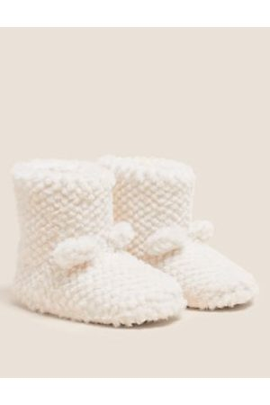 Kids' Faux Fur Slipper Boots (5 Small