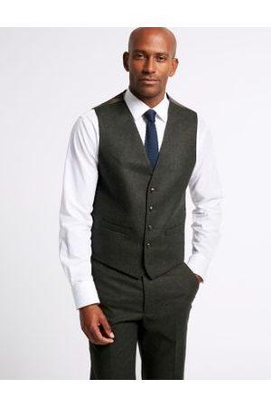 Marks & Spencer Dark Tailored Fit Tailored Waistcoat, Dark