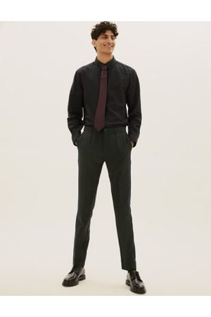 Marks & Spencer Skinny Fit Flat Front Trousers
