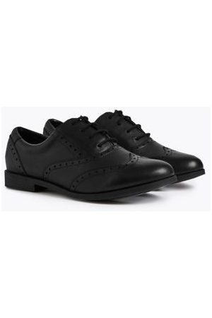 Kids' Leather Lace-up Brogues School Shoes (13 Small