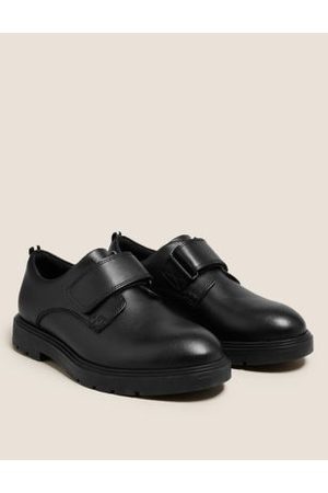 Kids' Leather Riptape School Shoes (13 Small-9 Large)