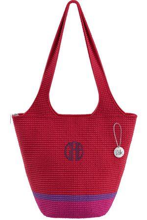 The Sak Custom Recycled Ocean Crochet Large Tote CAE Monogram Bag