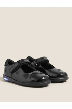 Kids' Leather Flashing Light School Shoes (8 Small