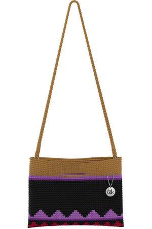 The Sak Custom Recycled Ocean Crochet Convertible Crossbody Wander Purple Belize Stripe Bag