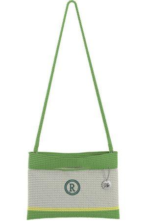The Sak Custom Recycled Ocean Crochet Convertible Crossbody Circle R Monogram Bag