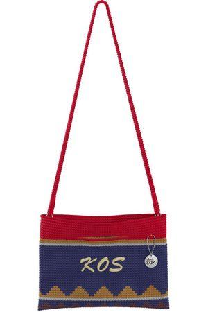 The Sak Custom Recycled Ocean Crochet Convertible Crossbody KOS Monogram Bag