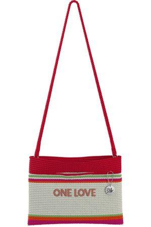 The Sak Custom Recycled Ocean Crochet Convertible Crossbody One Love Red Bag