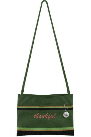 The Sak Custom Recycled Ocean Crochet Convertible Crossbody Thankful Bag