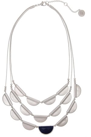 The Sak 3 Row Necklace with Castings