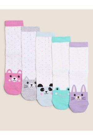 5pk Cotton Spotty Animal Socks