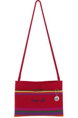 The Sak Custom Recycled Ocean Crochet Convertible Crossbody Love All Red Bag